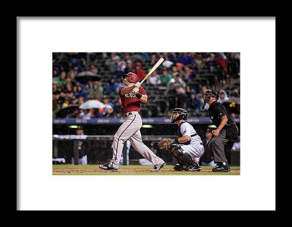 People Framed Print featuring the photograph Philadelphia Phillies V Colorado Rockies 1 by Dustin Bradford
