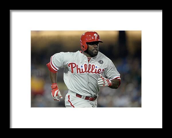 Tony Gwynn Jr. Framed Print featuring the photograph Philadelphia Phillies V Los Angeles by Harry How