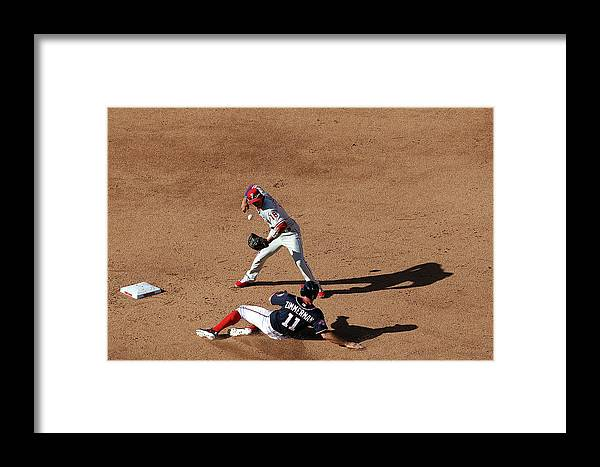 People Framed Print featuring the photograph Philadelphia Phillies V Washington 1 by Patrick Smith