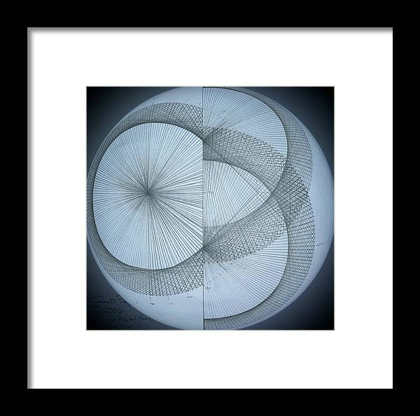 Photon Framed Print featuring the drawing Photon Double Slit Test by Jason Padgett
