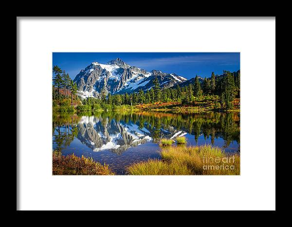 America Framed Print featuring the photograph Picture Lake by Inge Johnsson