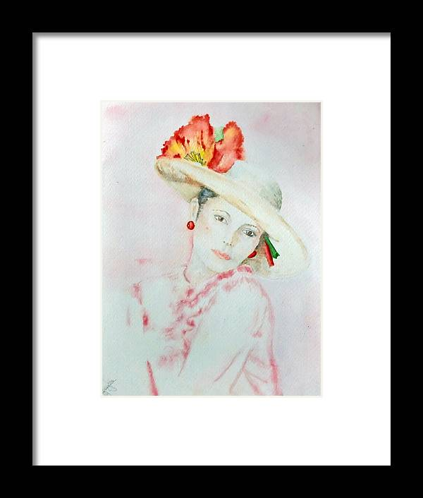 Pink Lady Framed Print featuring the painting Pink Lady by Gail McFarland