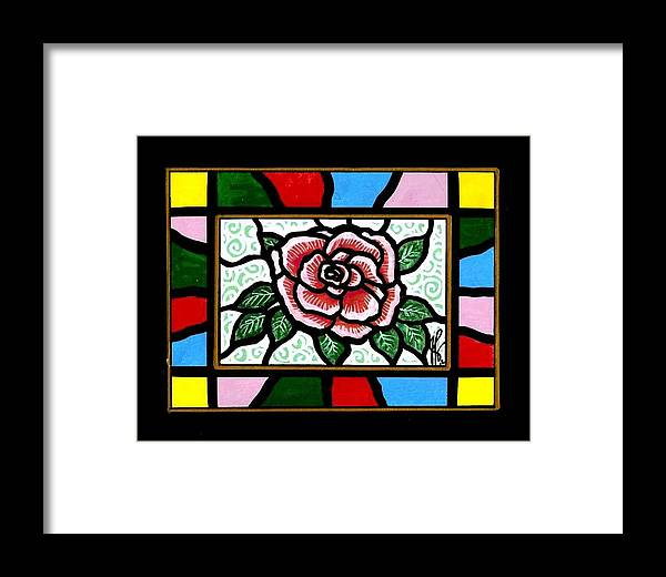 Rose Framed Print featuring the painting Pinkish Rose by Jim Harris