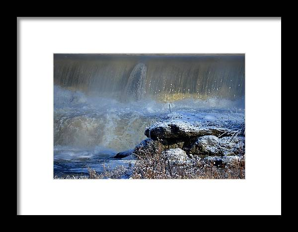 Pipe Creek Framed Print featuring the photograph Pipe Creek Falls by Regine Brindle
