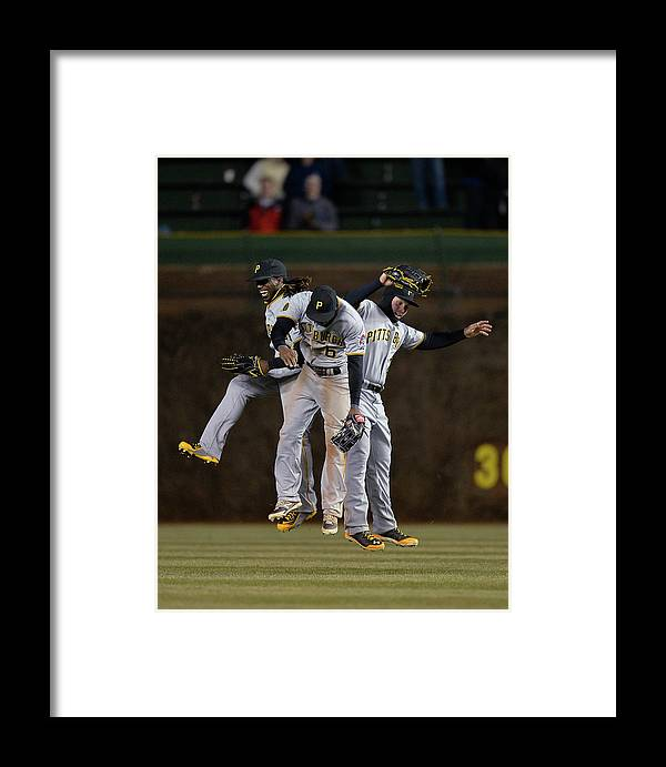 Celebration Framed Print featuring the photograph Pittsburgh Pirates V Chicago Cubs 1 by Brian Kersey