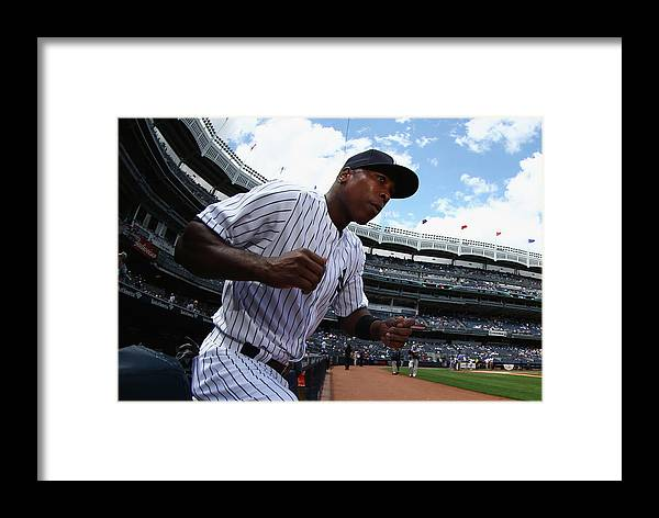 Alfonso Soriano Framed Print featuring the photograph Pittsburgh Pirates V New York Yankees - 1 by Al Bello