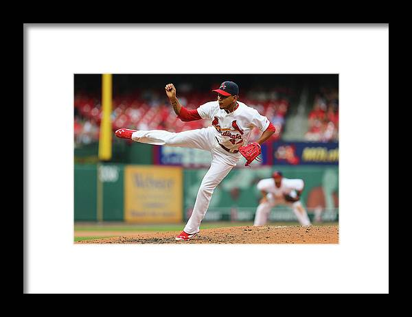 St. Louis Cardinals Framed Print featuring the photograph Pittsburgh Pirates V St. Louis Cardinals by Dilip Vishwanat