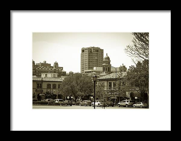 Places Framed Print featuring the photograph Plaza by Tinjoe Mbugus