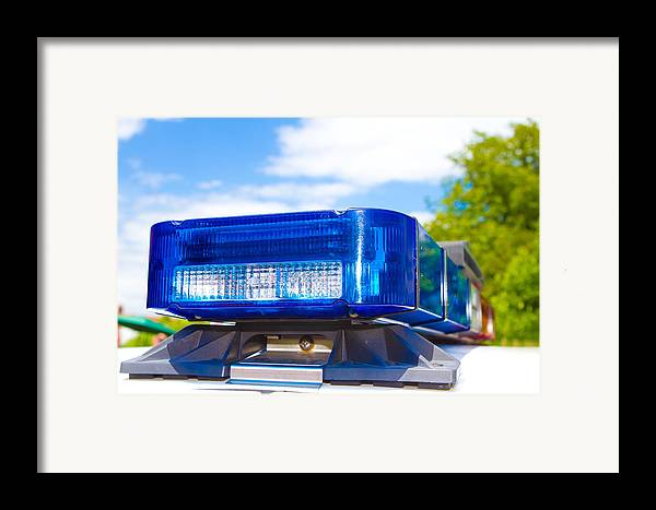 Arrest Framed Print featuring the photograph Police Lights by Fizzy Image