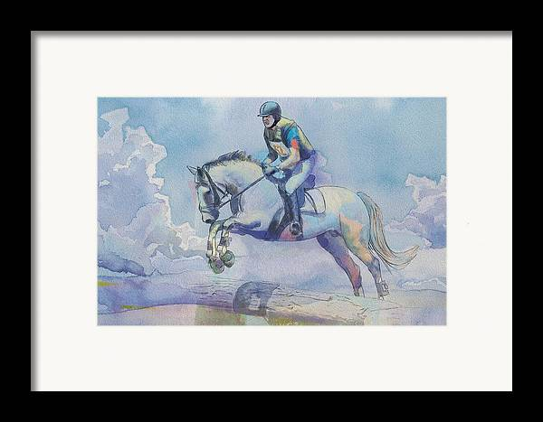 Horse Sport Framed Print featuring the painting Polo Art by Catf