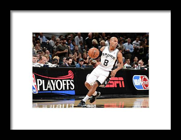 Sport Framed Print featuring the photograph Portland Trail Blazers V San Antonio by Garrett Ellwood