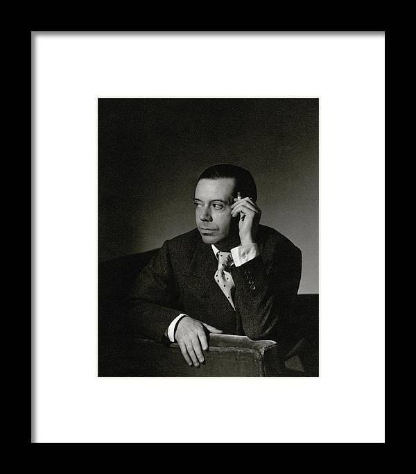Portrait Framed Print featuring the photograph Portrait Of Cole Porter by Horst P. Horst
