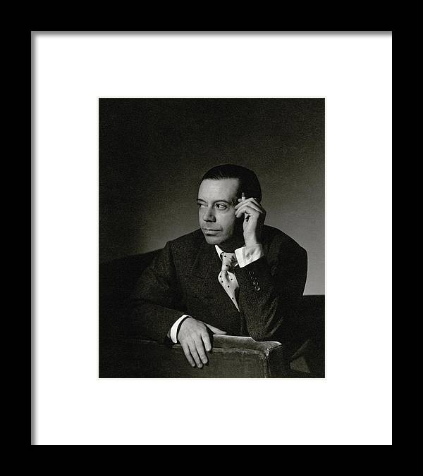 Portrait Framed Print featuring the photograph Portrait Of Cole Porter by Horst P. Horst