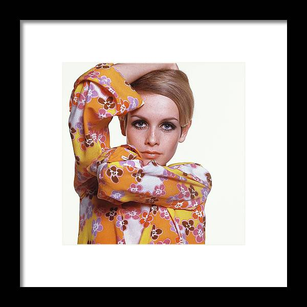 Personality Framed Print featuring the photograph Portrait Of Twiggy 1 by Bert Stern