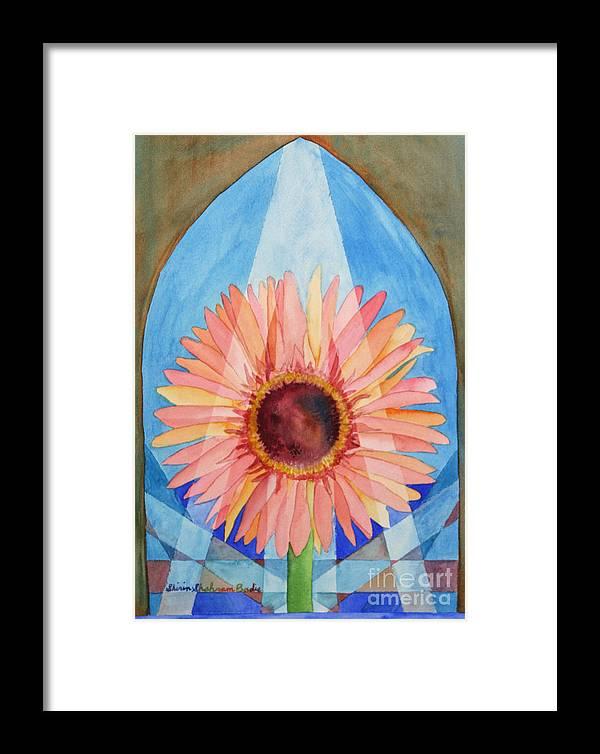 Plants Framed Print featuring the painting Praying Gerbera by Shirin Shahram Badie