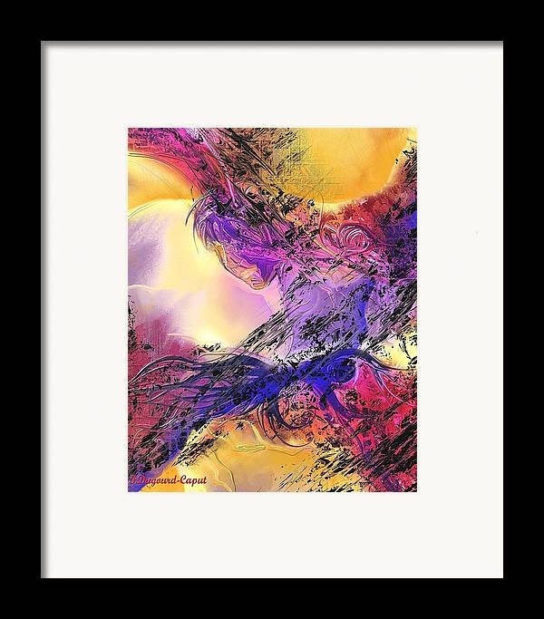 Abstract Framed Print featuring the digital art Presence by Francoise Dugourd-Caput
