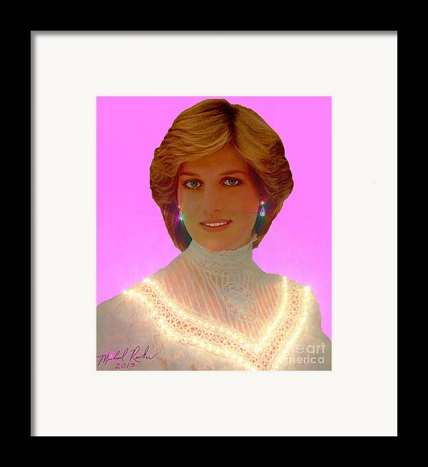 Princess Diana Framed Print featuring the photograph Princess Diana by Michael Rucker