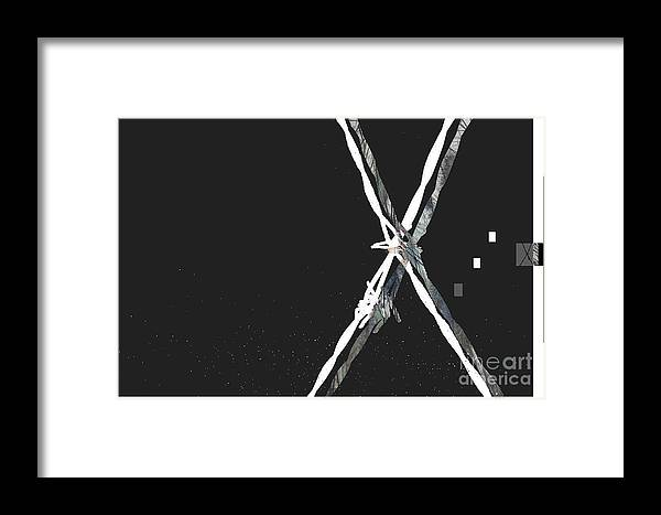 Abstract Framed Print featuring the digital art Promoted Fading by Fei A