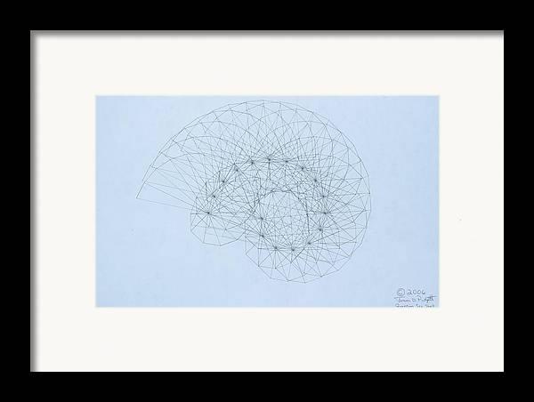 Jason Padgett Framed Print featuring the drawing Quantum Nautilus by Jason Padgett