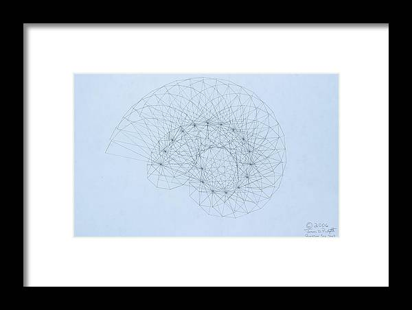 Jason Padgett Framed Print featuring the drawing Quantum Nautilus by Jason Padgett