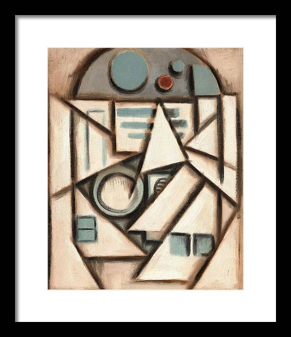 R2d2 Framed Print featuring the painting R2 Deco Art Print by Tommervik