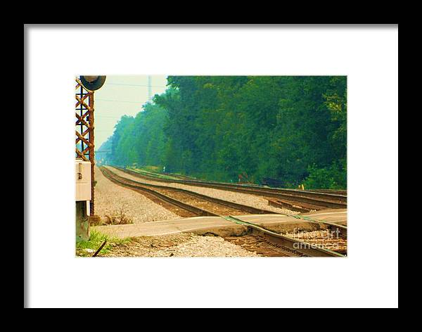 Landscape Framed Print featuring the photograph Railroad To Nowhere by Heather White