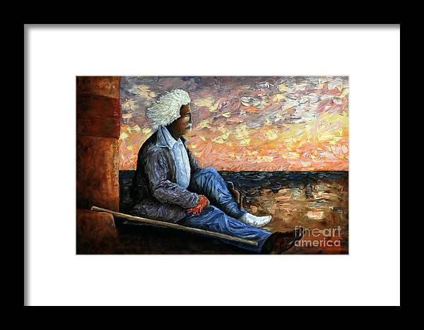 Portrait Framed Print featuring the painting Reflections by Barney Napolske