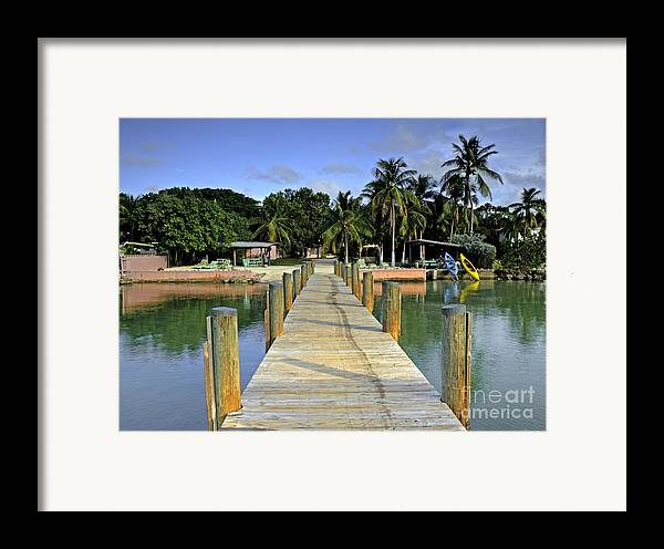Keys Framed Print featuring the photograph Resort by Bruce Bain