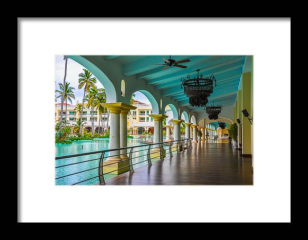 Punta Cana Framed Print featuring the photograph Resort In Dominican Republic by Amel Dizdarevic