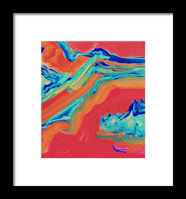 Framed Print featuring the painting River Rafting by Camille Glenn