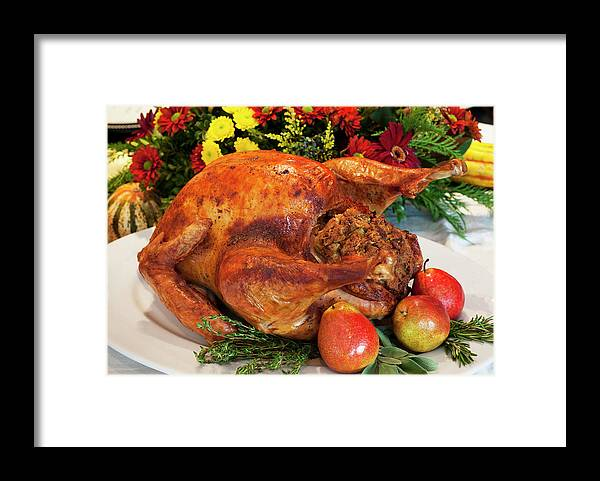 Stuffed Framed Print featuring the photograph Roast Turkey by Tetra Images