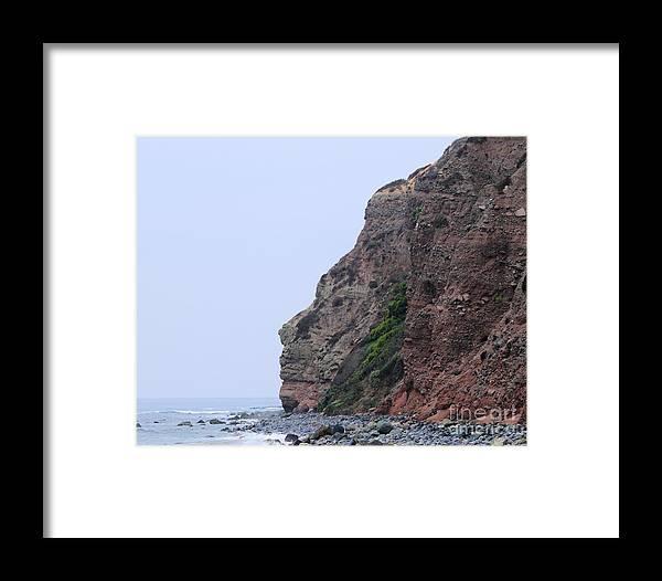 Water Framed Print featuring the photograph Rock Face by Henrik Lehnerer