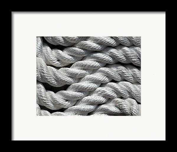 Abstract Framed Print featuring the photograph Rope Pattern by Yali Shi