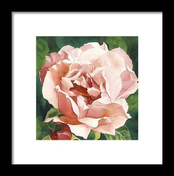 Rose In Pink Framed Print featuring the painting Rose In Pink by Alfred Ng