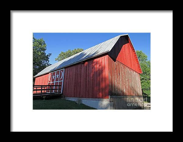 Red Framed Print featuring the photograph Rustic Red Barn by Kevin McCarthy