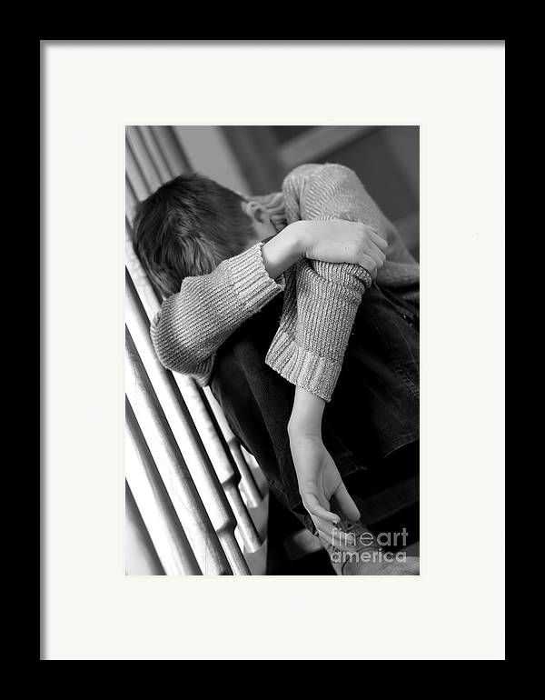 Adolescent Framed Print featuring the photograph Sadness by Michal Bednarek