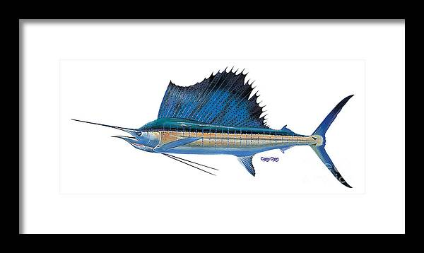 Sailfish Framed Print featuring the painting Sailfish by Carey Chen