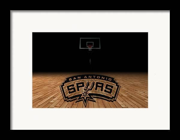 Spurs Framed Print featuring the photograph San Antonio Spurs by Joe Hamilton