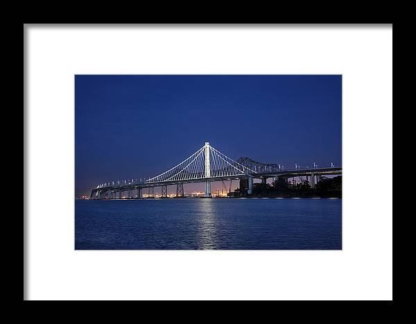 New Span Bay Bridge Framed Print featuring the photograph San Francisco Bay Bridge by Dan Peak