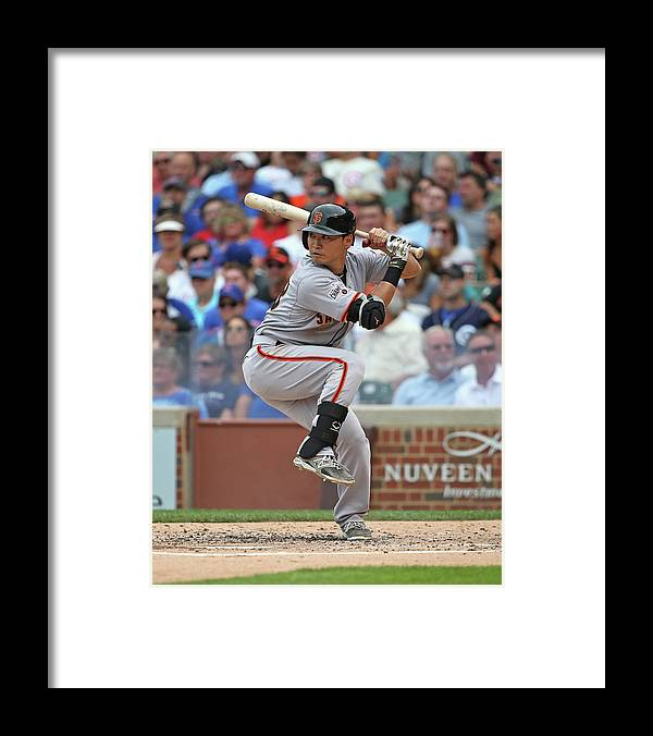 People Framed Print featuring the photograph San Francisco Giants V Chicago Cubs by Jonathan Daniel