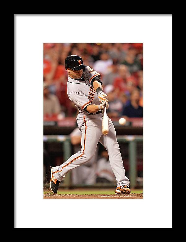 Great American Ball Park Framed Print featuring the photograph San Francisco Giants V Cincinnati Reds by Jamie Sabau
