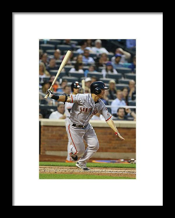 People Framed Print featuring the photograph San Francisco Giants V New York Mets by Al Bello