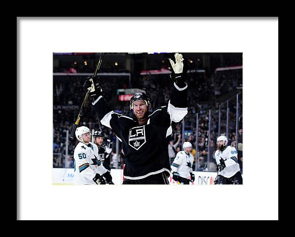 Playoffs Framed Print featuring the photograph San Jose Sharks V Los Angeles Kings - by Harry How