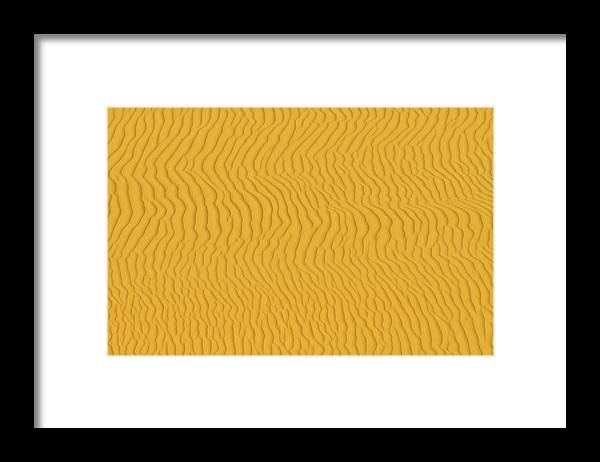 Sand Dune Framed Print featuring the photograph Sand Dune Patterns by Raimund Linke