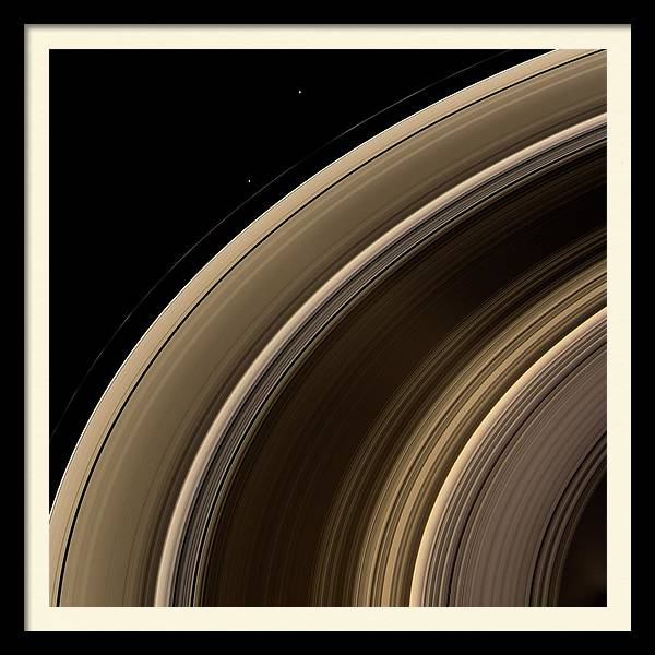 Saturn's Rings And Moons by Nasa/jpl/space Science Institute/science Photo Library