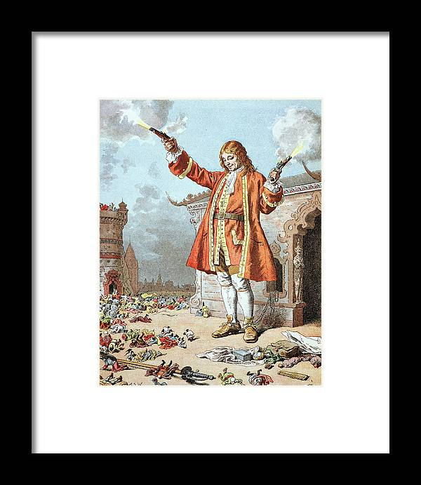 'gulliver's Travels' Framed Print featuring the painting Scene From Gullivers Travels 1 by Frederic Lix