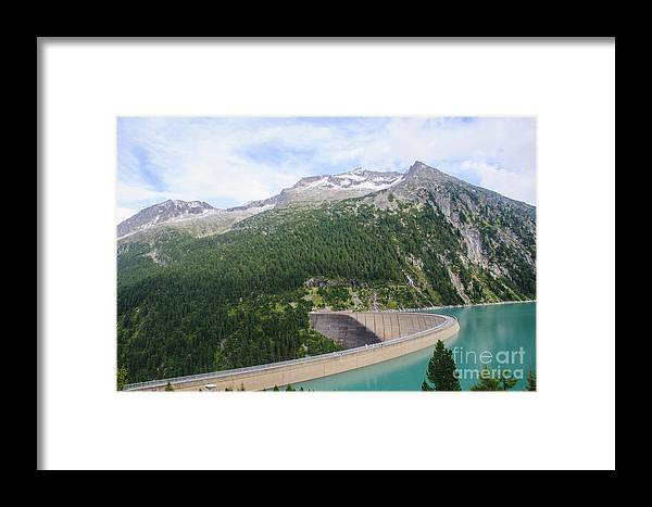 Austria Framed Print featuring the photograph Schlegeis Dam And Reservoir by Ilan Rosen