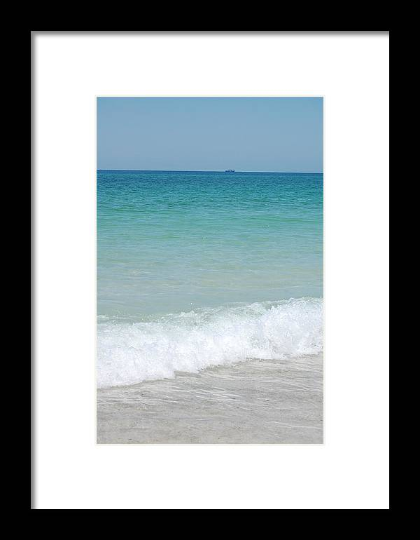 Water Framed Print featuring the photograph Sea Of Blue by May Photography