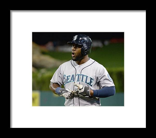 Double Play Framed Print featuring the photograph Seattle Mariners V Los Angeles Angels by Harry How