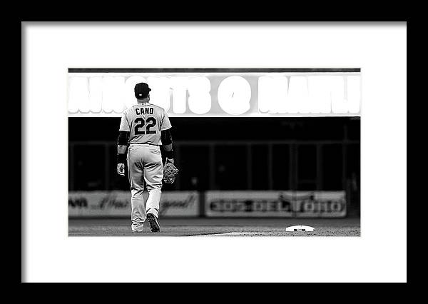 American League Baseball Framed Print featuring the photograph Seattle Mariners V Miami Marlins by Mike Ehrmann